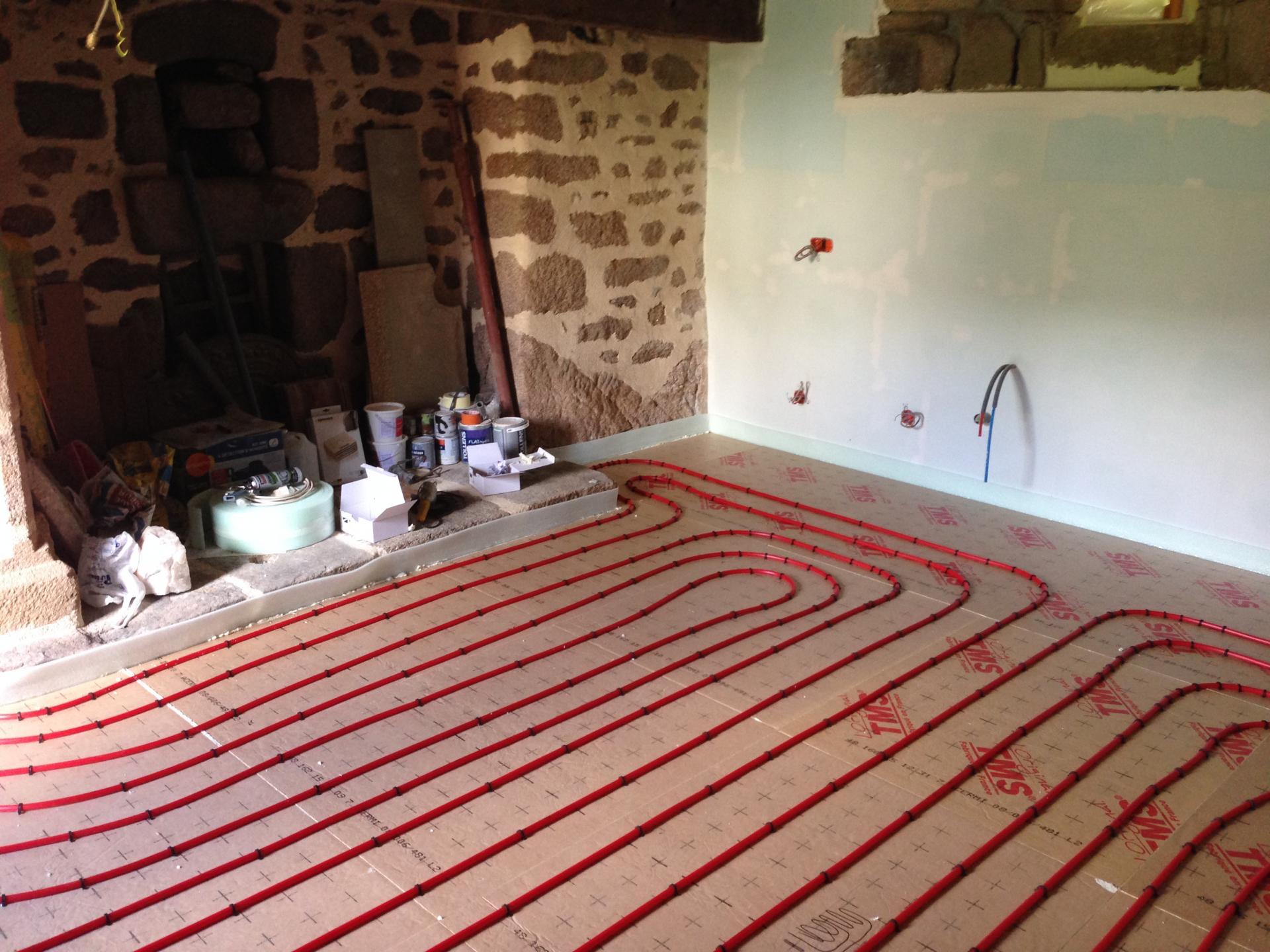 Plancher chauffant en rénovation