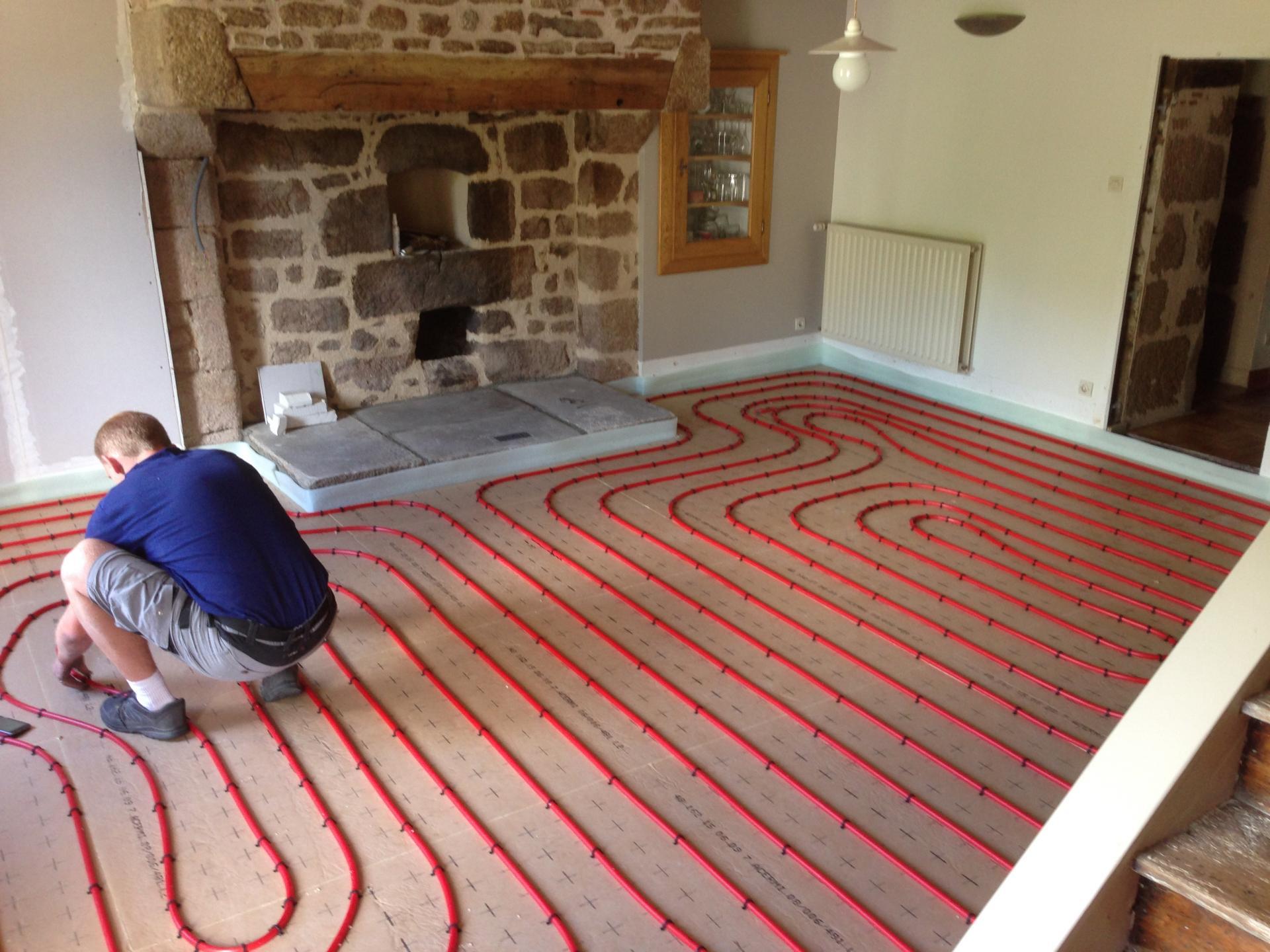 Quelques exemples de r alisations for Plancher chauffant renovation