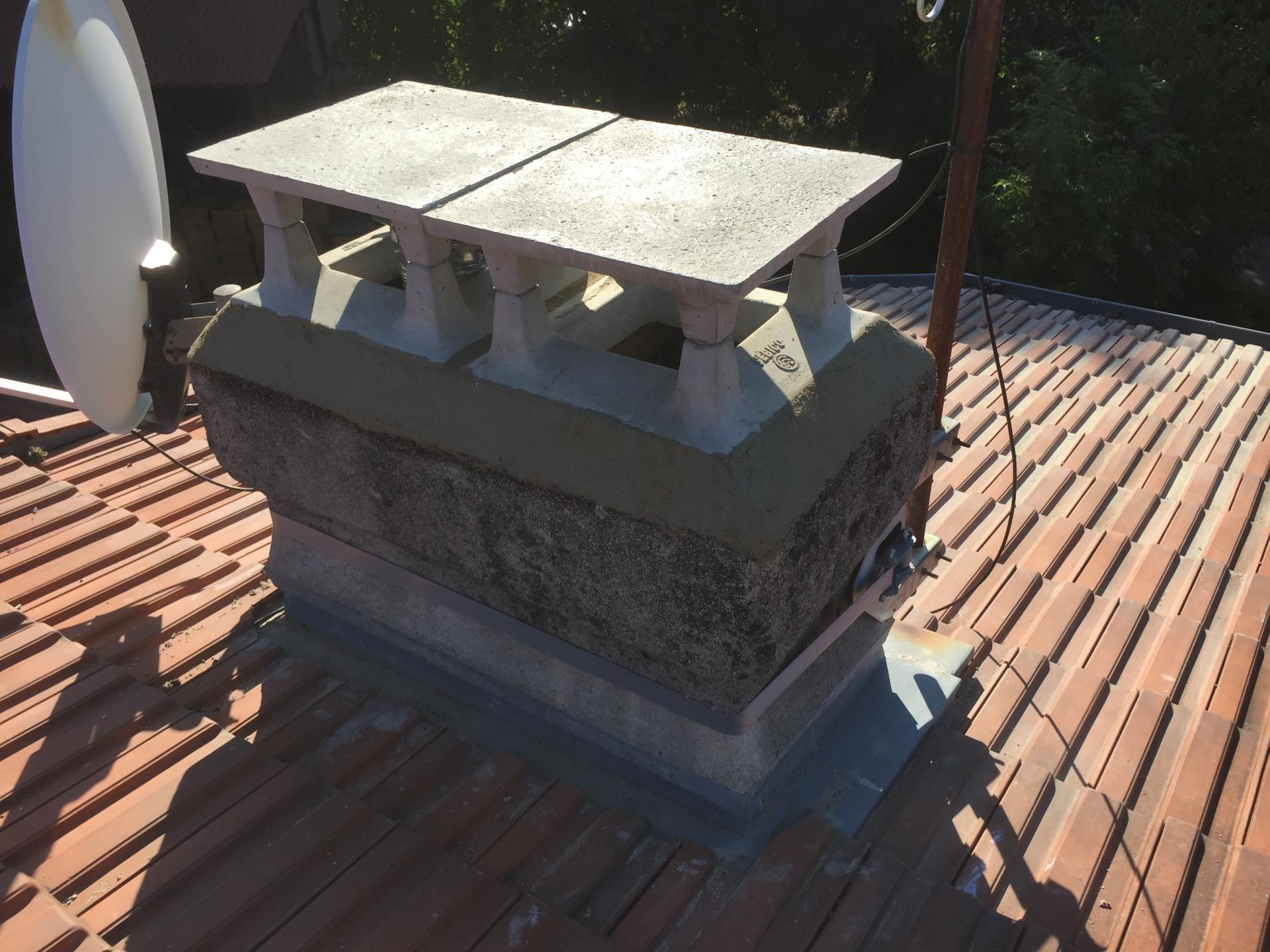 Changement d'un vieux gainage de cheminée
